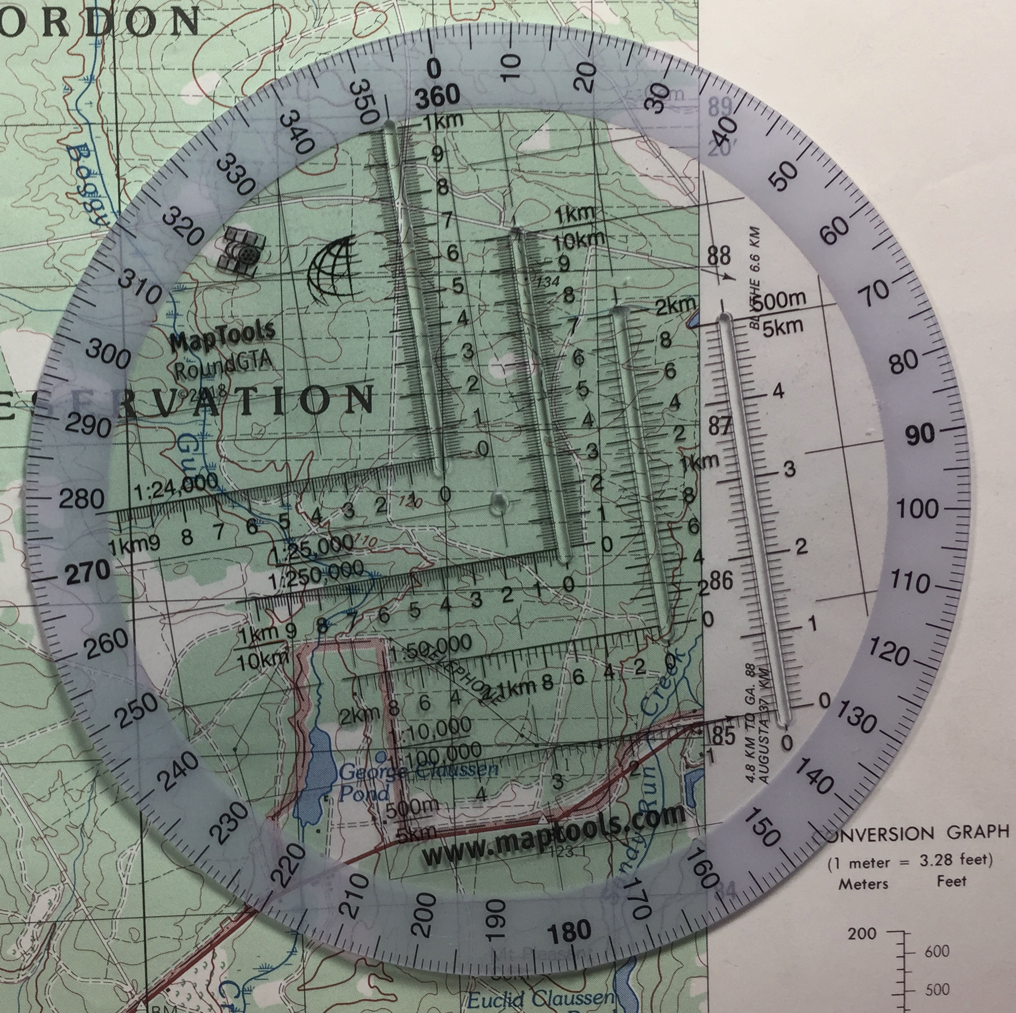 Maptools Product Round Military Coordinate Scale And